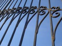 Modelo de la puerta del hierro labrado Imágenes de archivo libres de regalías