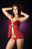 Modelo de la ropa interior Imagen de archivo libre de regalías