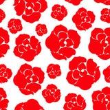 Modelo de la rosa del rojo de Sipmle Imágenes de archivo libres de regalías