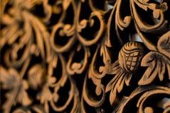 Modelo de la rosa tallado en la madera Foto de archivo libre de regalías