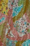Modelo de la seda de la vendimia imagen de archivo libre de regalías