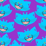 Modelo de la sonrisa del gato de Cheshire animal doméstico fantástico Alicia de la textura en wonde Fotos de archivo libres de regalías