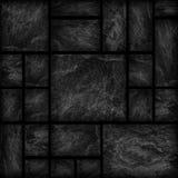 Modelo de la superficie de la pared de piedra de la pizarra/del sto negros decorativos del negro Foto de archivo