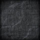 Modelo de la superficie de la pared de piedra de la pizarra/del sto negros decorativos del negro Fotos de archivo