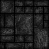 Modelo de la superficie de la pared de piedra de la pizarra/del sto negros decorativos del negro Foto de archivo libre de regalías