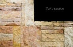 Modelo de la superficie gris marrón decorativa de la pared de piedra de la pizarra, fondo de la textura Fotos de archivo