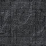 Modelo de la superficie negra decorativa de la pared de piedra de la pizarra Foto de archivo libre de regalías