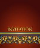 Modelo de la tarjeta de la invitación Imagen de archivo libre de regalías