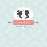 Modelo de la tarjeta de la invitación de la boda   Foto de archivo libre de regalías