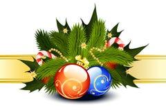 Modelo de la tarjeta de Navidad Fotografía de archivo libre de regalías