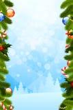 Modelo de la tarjeta de Navidad Fotografía de archivo