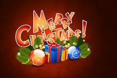 Modelo de la tarjeta de Navidad Imagen de archivo