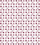 Modelo de la tarjeta del día de San Valentín del corazón Imágenes de archivo libres de regalías