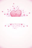 Modelo de la tarjeta del día de tarjetas del día de San Valentín Fotografía de archivo libre de regalías