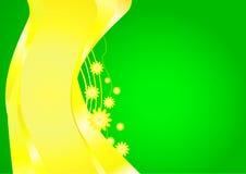 Modelo de la tarjeta hermosa verde para sus propósitos Libre Illustration