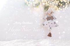 Modelo de la tarjeta de Navidad imágenes de archivo libres de regalías