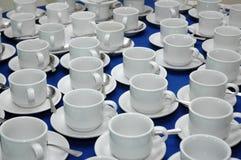 Modelo de la taza blanca Imagen de archivo