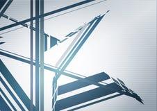 Modelo de la tecnología con la estructura futurista azul Gráficos de vector libre illustration