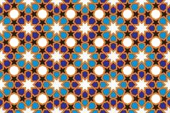 Modelo de la teja de mosaico, adorno islámico Foto de archivo libre de regalías