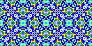 Modelo de la teja de mosaico, adorno islámico Foto de archivo