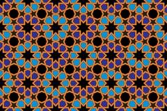Modelo de la teja de mosaico, adorno islámico Imagen de archivo