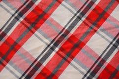 Modelo de la tela de la tela escocesa Fotografía de archivo libre de regalías