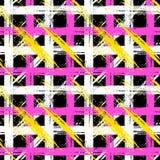 Modelo de la tela escocesa con pinceladas y rayas Imagen de archivo libre de regalías
