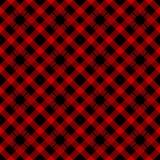 Modelo de la tela escocesa del leñador Alternancia del fondo inconsútil de las casillas negras rojas y Ilustración del vector libre illustration