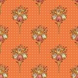 Modelo de la textura de la tela con las flores inconsútiles Fotografía de archivo