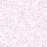 Modelo de la textura del vector en rosa y blanco florales stock de ilustración