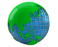 Modelo de la tierra verde 3d Foto de archivo libre de regalías