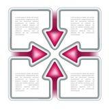 Modelo de la toma de decisión Imagen de archivo libre de regalías