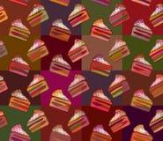 Modelo de la torta de chocolate de dulces Fotografía de archivo