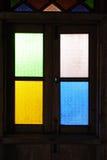 Modelo de la ventana vieja Fotos de archivo