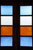 Modelo de la ventana vieja Fotografía de archivo