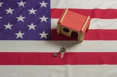 Modelo de la vivienda de los E.E.U.U. foto de archivo