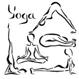 Modelo de la yoga Foto de archivo libre de regalías