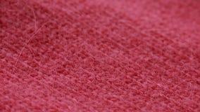 Modelo de lana rojo del suéter del estambre Copos de maíz metrajes