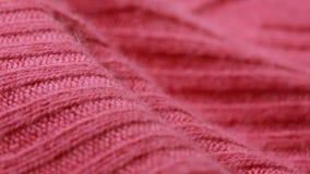 Modelo de lana rojo del suéter del estambre Copos de maíz almacen de video