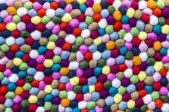 Modelo de lanas coloridas Fotografía de archivo