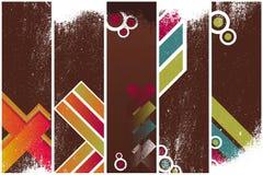 Modelo de las banderas de Grunge Imagen de archivo libre de regalías