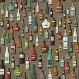 Modelo de las botellas Fotografía de archivo
