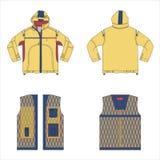Modelo de las chaquetas del vector Diseño de la moda Fotos de archivo libres de regalías