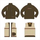 Modelo de las chaquetas del vector Diseño de la moda Imagen de archivo