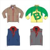 Modelo de las chaquetas del vector Diseño de la moda Fotografía de archivo