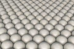Modelo de las esferas blancas Foto de archivo libre de regalías
