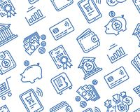 Modelo de las finanzas y de las actividades bancarias ilustración del vector