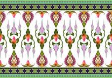 Modelo de las flores y de las hojas aisladas Imagenes de archivo