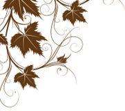 Modelo de las hojas stock de ilustración