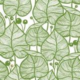 Modelo de las hojas Modelo verde inconsútil de la hoja Imagenes de archivo